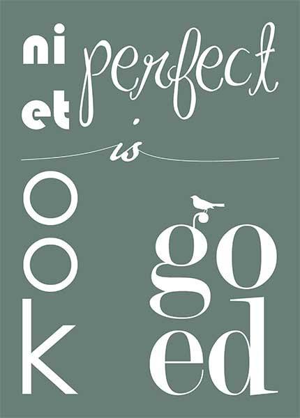 Niet perfect
