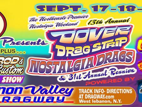 Dover Nostalgia Racing Extravaganza Comes to the Valley Sept 17-19