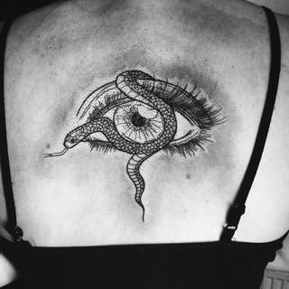 Eye and snake