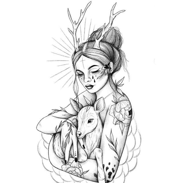 Fawn woman