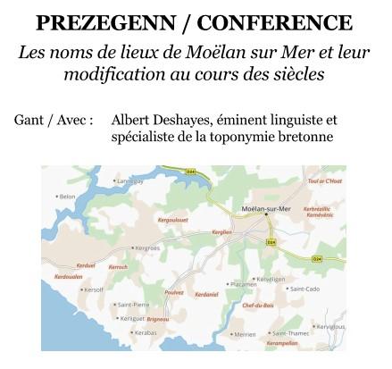 Noms de lieux de Moëlan