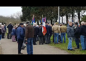 31/12/2018  A l'initiative de l'infatigable Yves CARNOT, commémoration du 75 ème anniversaire du crash du bombardier américain THE BLACK SWAN à Kérancréac'h en Bannalec.