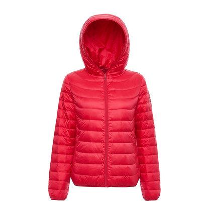 Women's Lightweight Hooded Packable Down Jacket