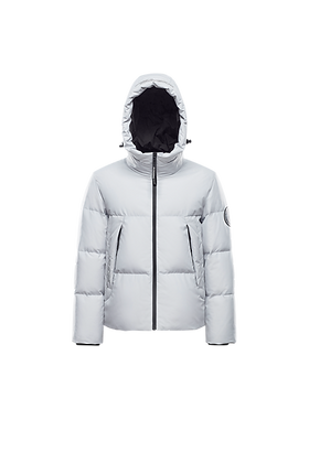 Men's Cropped Hooded Puffer Jacket