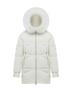 Women's Hooded Parka with Fur Trim
