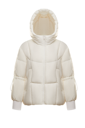 Women's Hooded Cropped Puffer Jacket