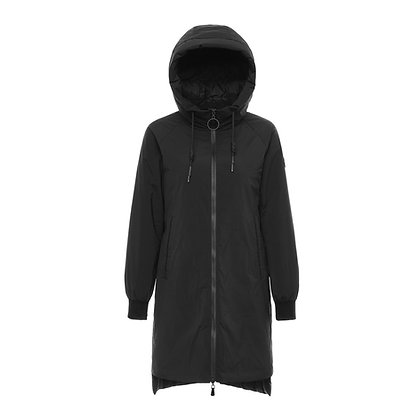 Women's Parka Style Hooded Down Jacket