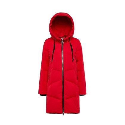 Women's Long Puffer Down Coat with Hood