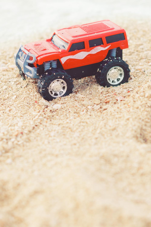 Toy truck Araha Beach