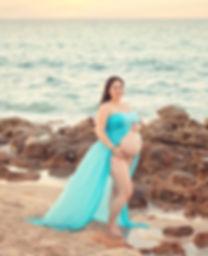 Allie Cline Maternity Photo Beach