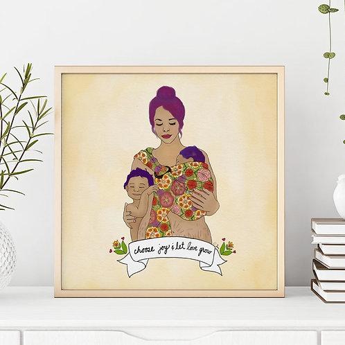 'Choose Joy & Let Love Grow' Art Print by Crystal Domi