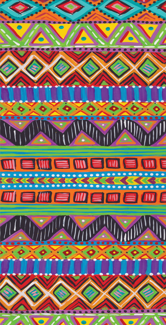 Crafty Chica Stripe Pattern Design created using original artowrk by Kathy Cano-Murillo for Sizzix Crafty Chica Paper Collection, 2017