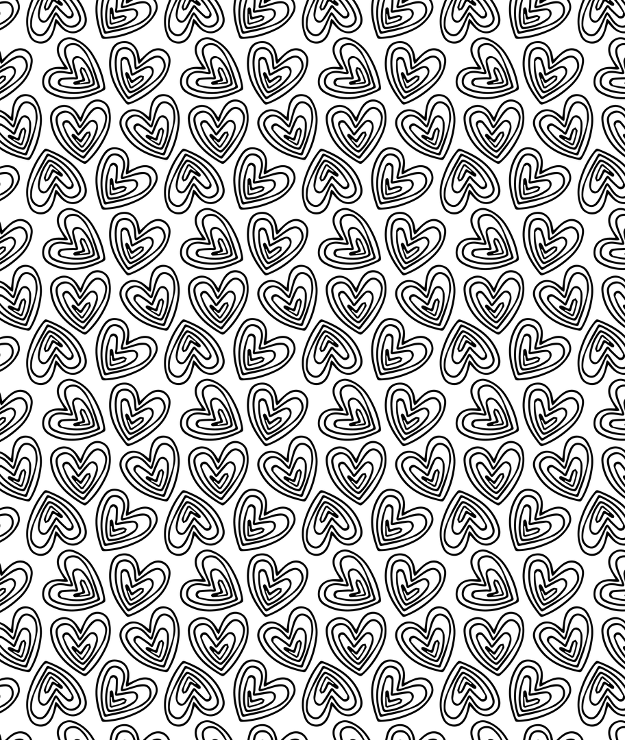 Vince and Soph Hearts Pattern Design, 2018