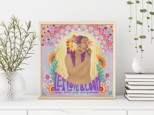 'Let Love Bloom' Art Print by Crystal Domi