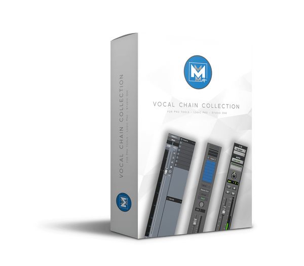 Product box for Mikes Mix & Master's Vocal Chain Collection for Pro Tools, Logic Pro, and Studio One