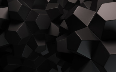 Black 3D abstract background