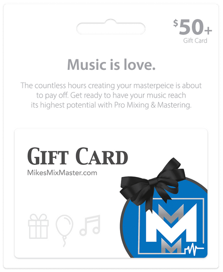 Image of a gift card for MikesMikesMixMaster.com