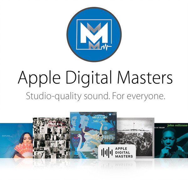 Apple digital masters image with album art and the official company logo for Mikes Mix & Master LLC