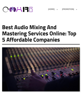 Article by Omary featuring MikesMixMaster.com as one of the top 5 affordable audio Mixing and Mastering companies