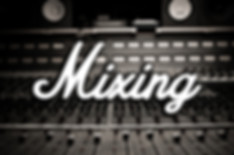 "Mixing board with the words ""Mixing"" on top"