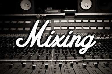 """Mixing board with the words """"Mixing"""" on top"""