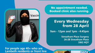 Walk-in clinic every Wednesday in Streatham Place