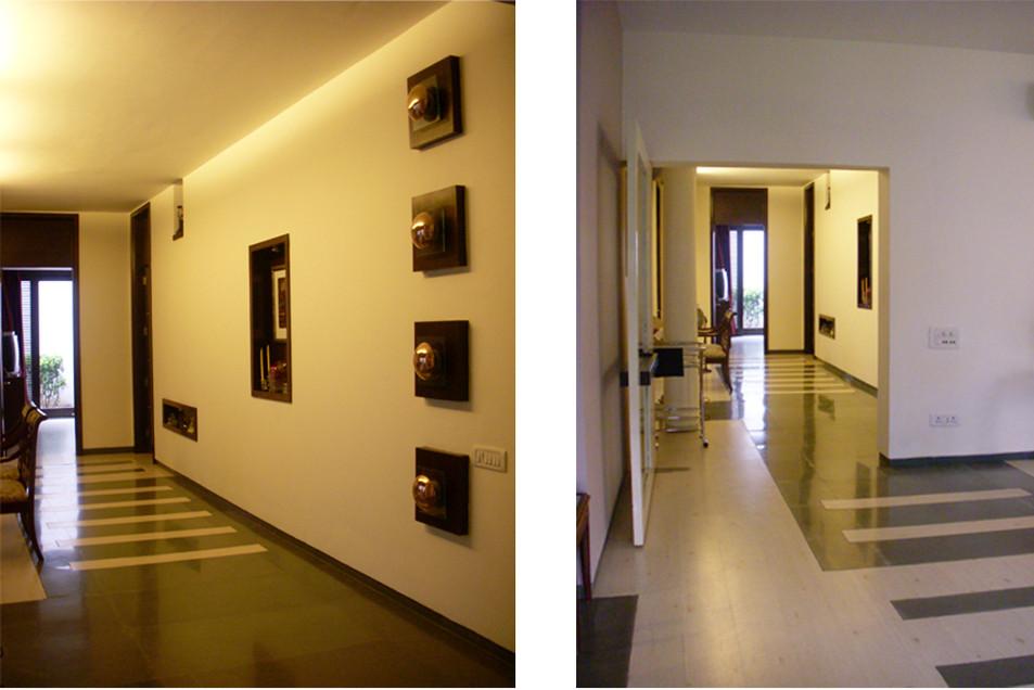 Elegant Flooring Details in the Living R