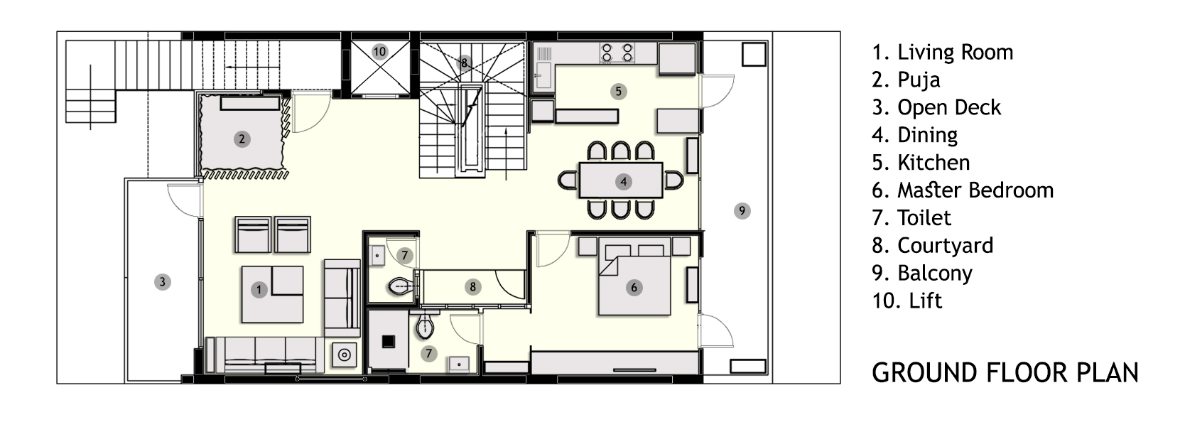 4. ground floor plan
