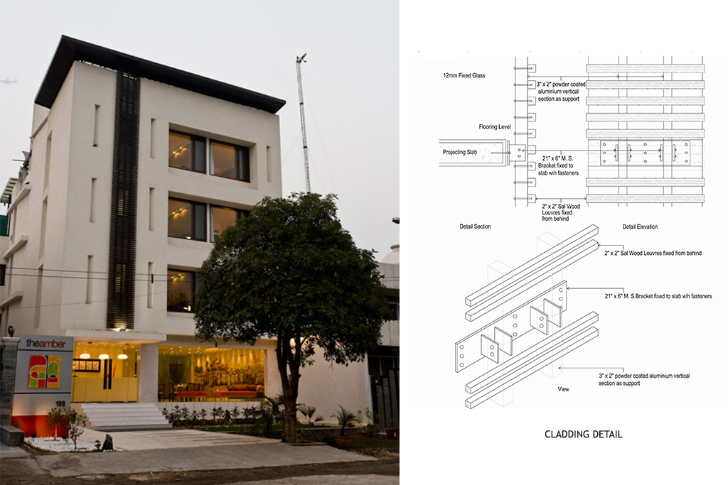 Exterior_shot_showing_the_front_elevation_of_the_hotel._diagram_showing_the_clad