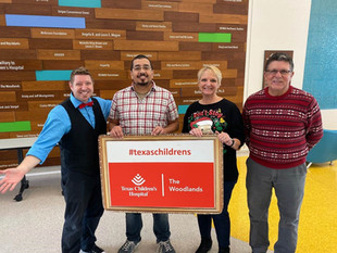 Barrios Magical Visit to Texas Children's Hospital Brings Joy