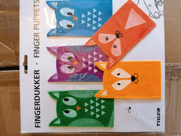 New unopened finger puppets