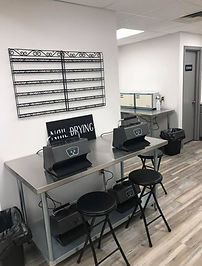 nail drying area for nail program