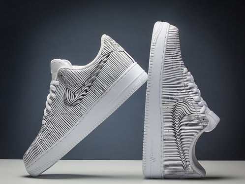 "Custom ""Linear Distortion"" Nike AF1"