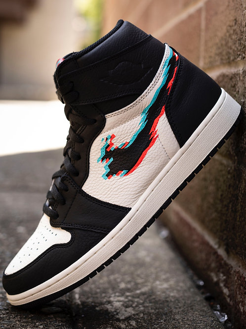 "Custom Air Jordan 1 High ""Glitch"" Base not included"