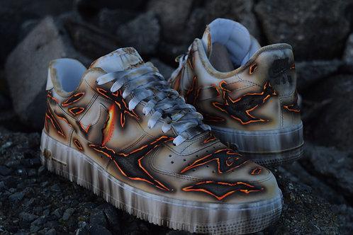 "Custom Nike AF1 Over-burnt ""Dirty"""