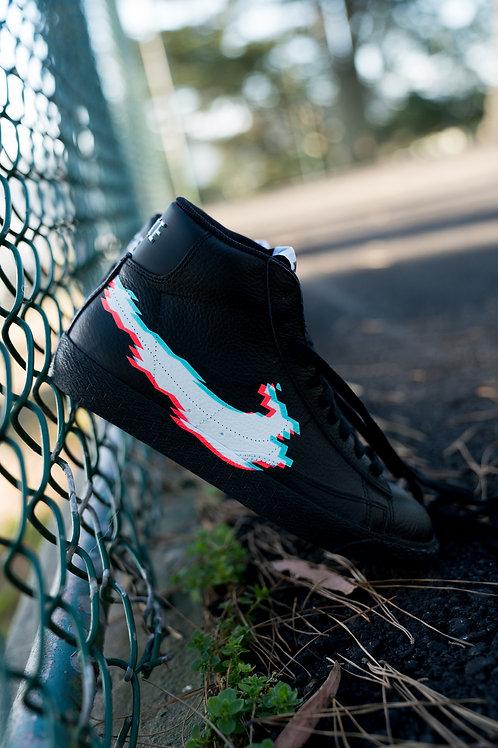 """Custom """"Glitch"""" Nike Blazer"""