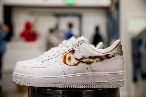 "Custom Nike AF1 ""Burnt"""
