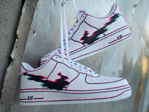 """Custom Nike AF1 """"Glitch 2.0"""" Made to Order"""
