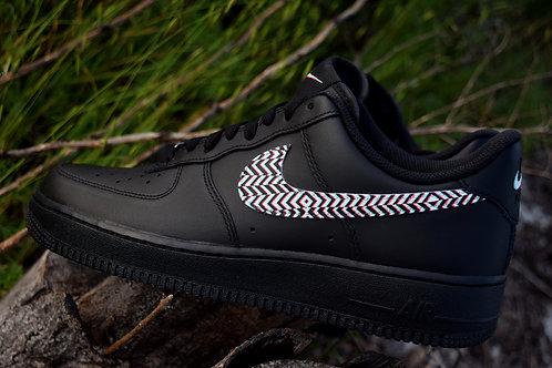 """Custom Nike AF1""""White Noise"""""""