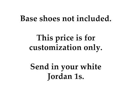 "Custom Air Jordan 1 ""Glitch Multicolor"" Base Shoe Not Included"