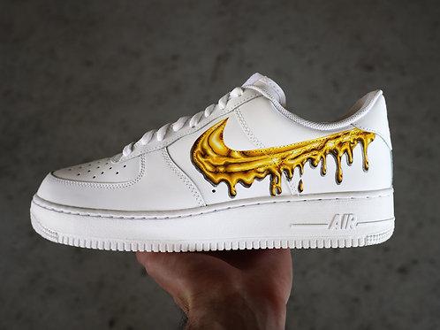 """Custom AF1 """"Gold Drip"""""""