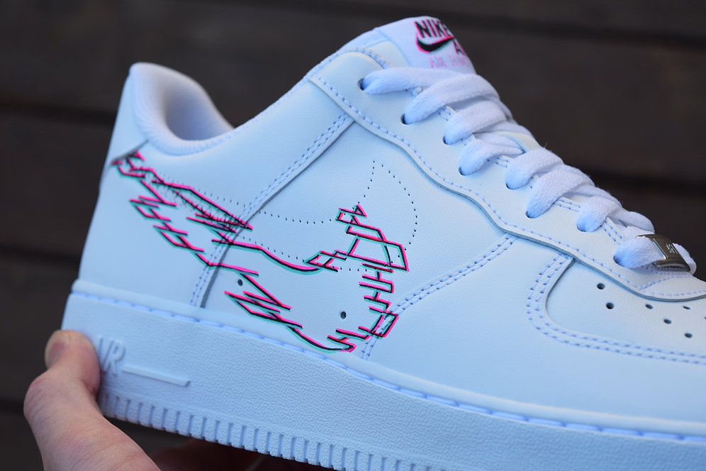 49121394 hand painted customised 3d nike glitch air force 1