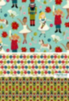 Angel Gerardo Christmas Holiday Handpainted Digital Art Illustraton Surface Design