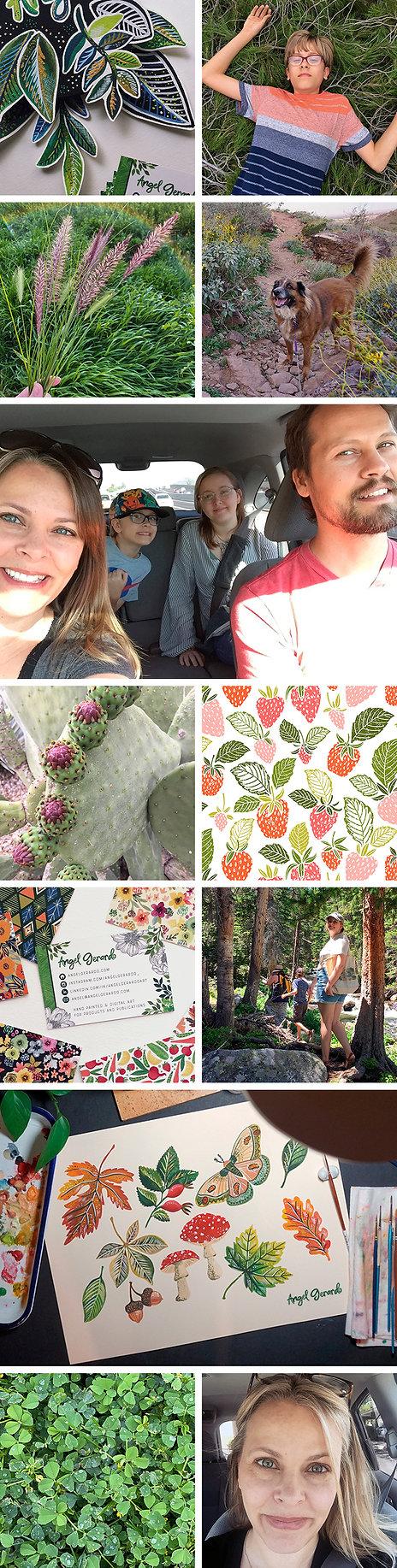 Angel Gerardo Artist, photos of family, art and plants.