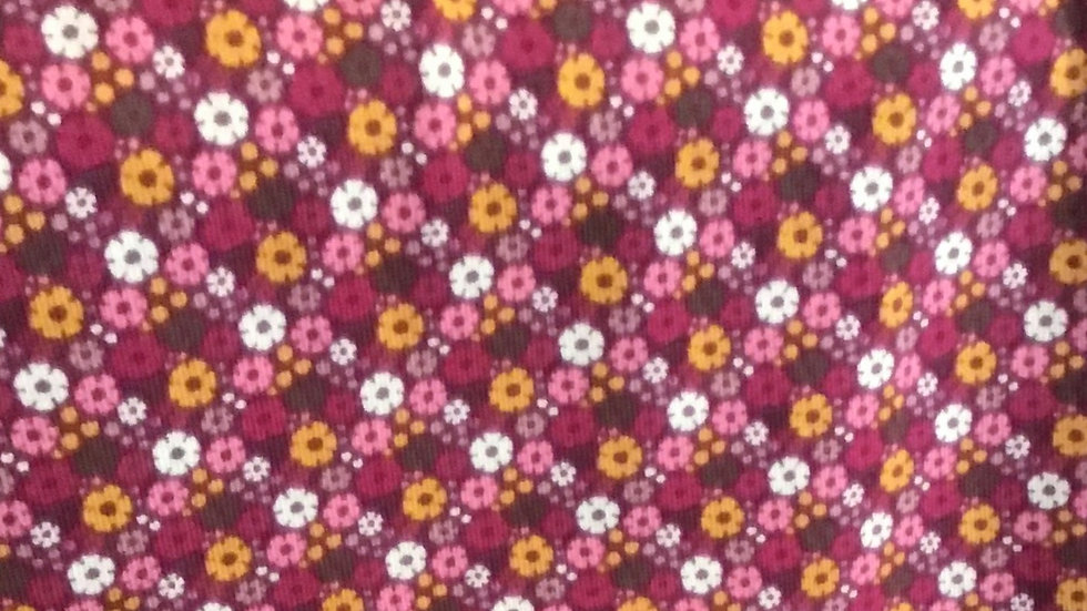 Jersey, Miniblümchen, pink
