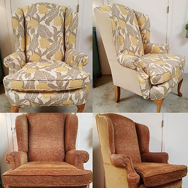 Before & After RE-UPHOLSTERY  Heirloom W