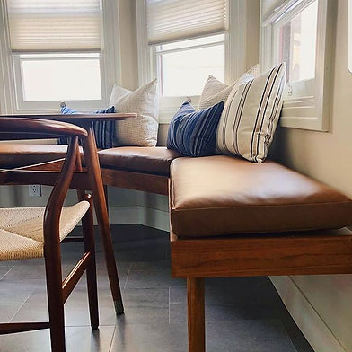 We made these custom banquette seat cush