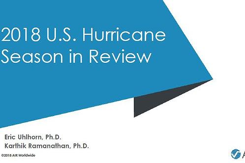 AIR - 2018 U.S. Hurricane Season Review