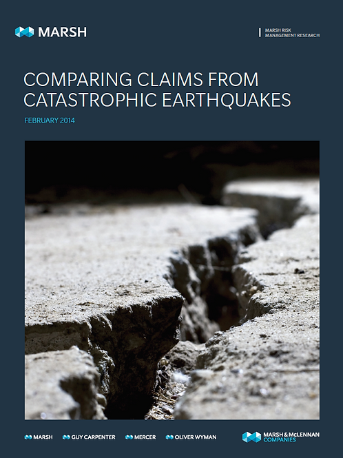 COMPARING CLAIMS FROM CATASTROPHIC EARTHQUAKES