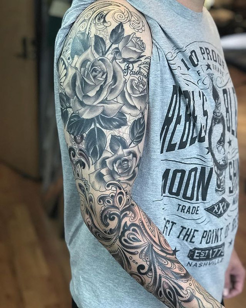 Worked on this sleeve today thanks again
